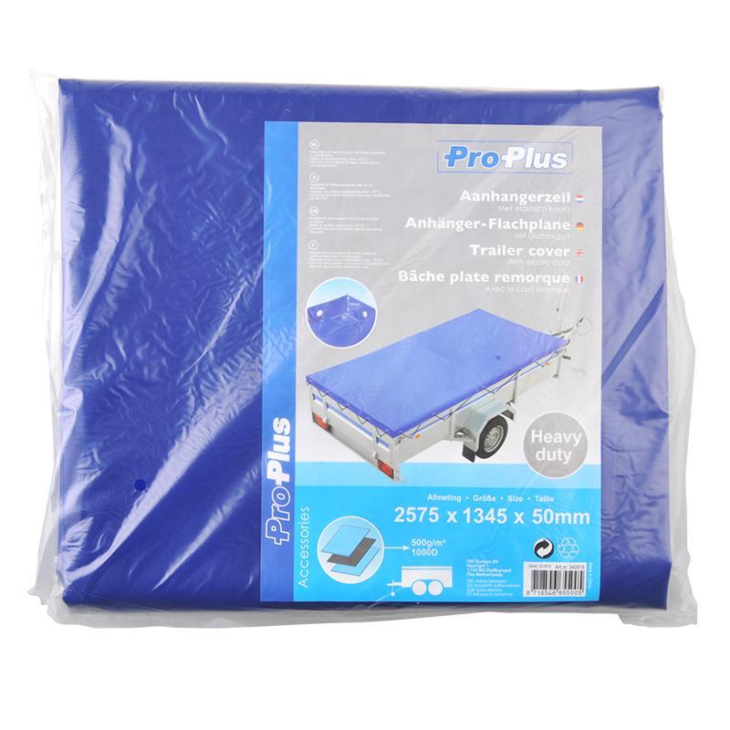 Aanhangerzeil met elastisch koord 2575x1345x50mm