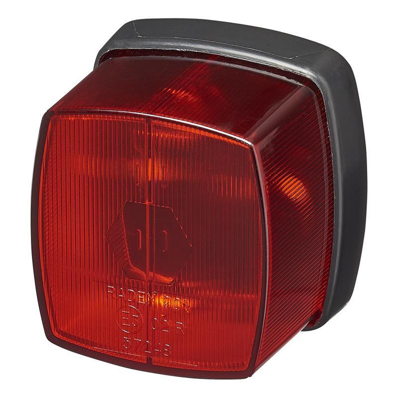 Markeringslamp rood 60x65mm