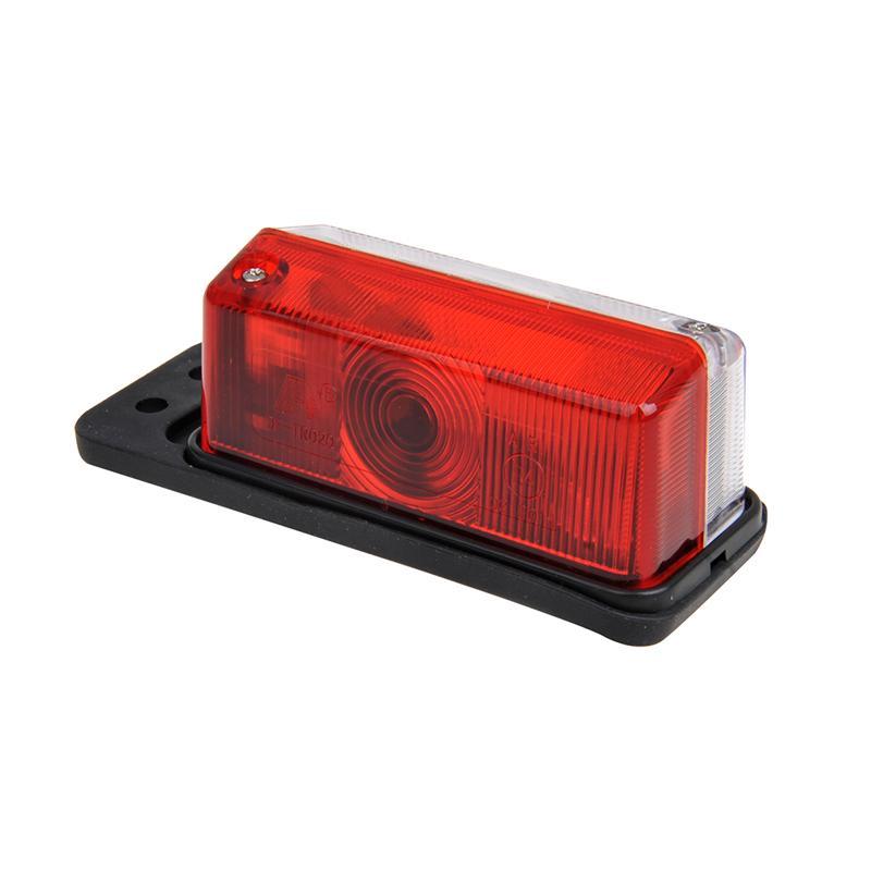 Breedtelicht rood/wit 92x42mm op houder