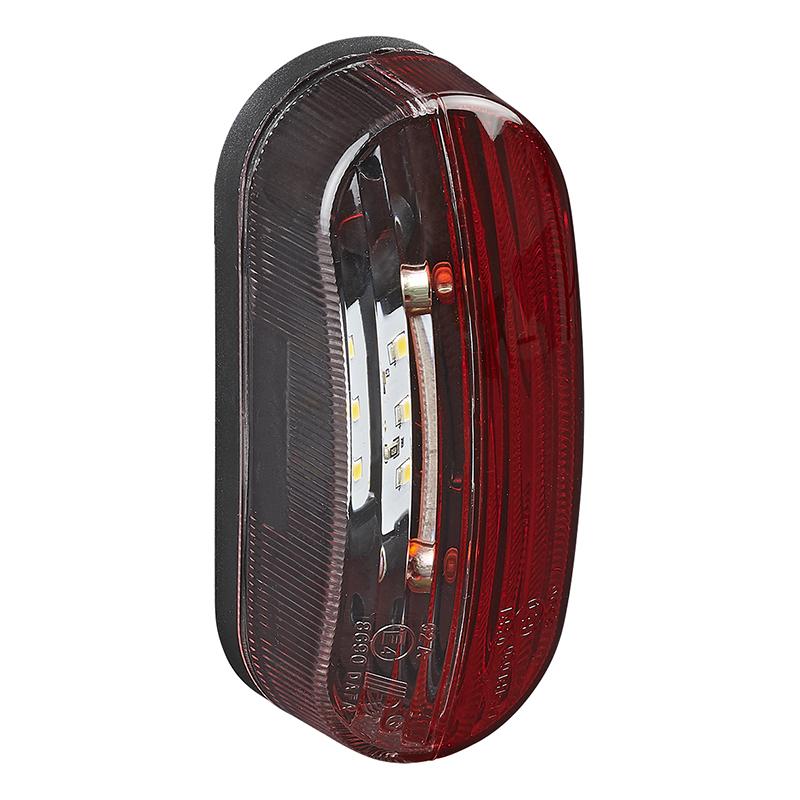 Breedtelicht LED rood/wit links