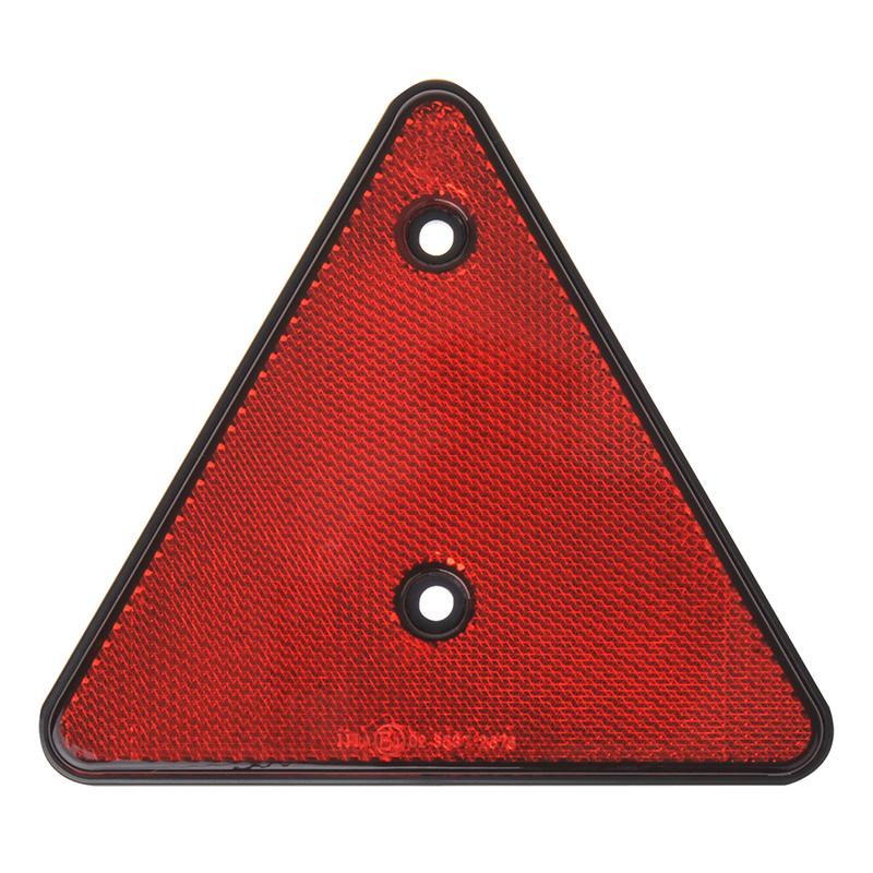Lengte driehoek reflecterend rood 16cm