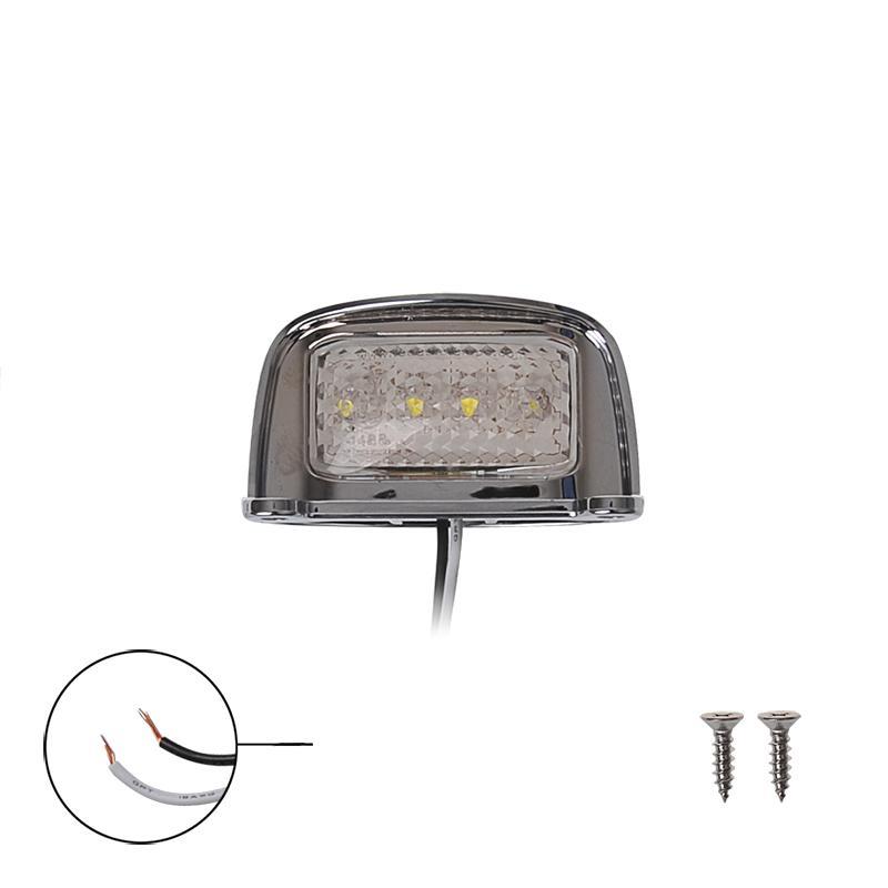 Kentekenverlichting 12/24V 76x41mm LED chroom