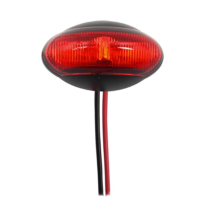 Markeringslamp 10-30V rood 60x34mm LED