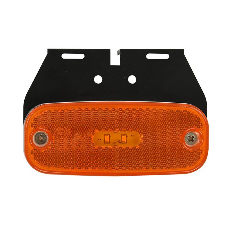Zijmarkeringslamp 10-30V oranje 110x45mm LED met houder
