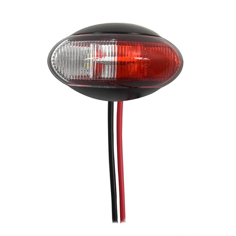 Breedtelicht 10-30V rood/wit 60x34mm LED