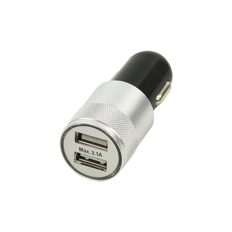 Usb plug 2x usb In 12-24V DC / 5V 2,1A Autolader