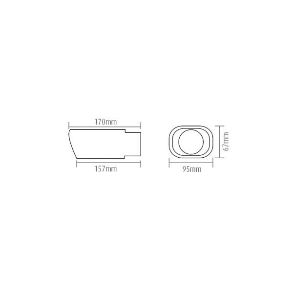Uitlaatsierstuk ovaal aansluiting 30-48mm