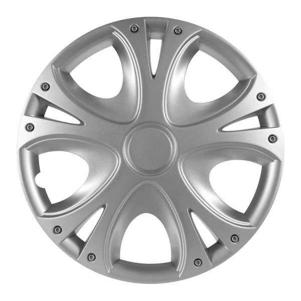 Wieldoppen Dynamic zilver 13 inch Set van 4 stuks
