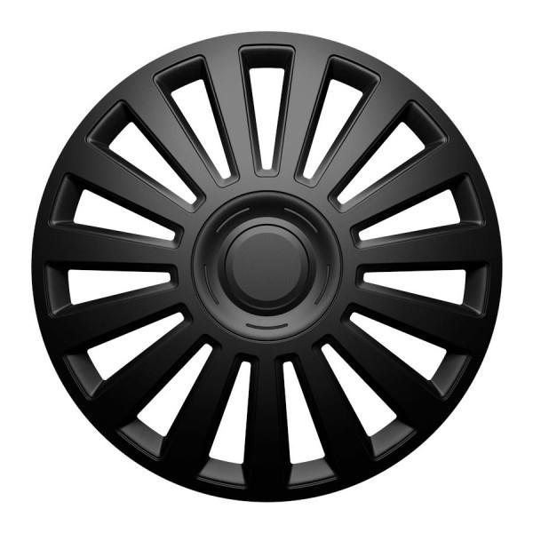 Wieldoppen Luxury zwart 14 inch Set van 4 stuks