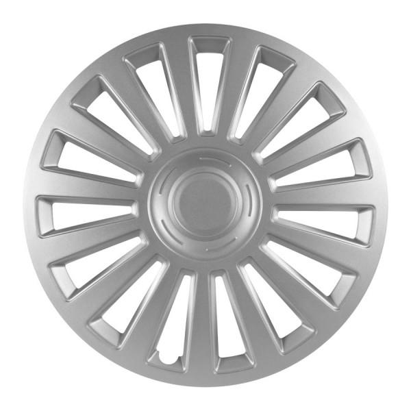 Wieldoppen Luxury zilver 14 inch Set van 4 stuks