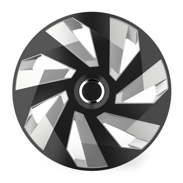Wieldoppen Vector zwart/zilver 15 inch