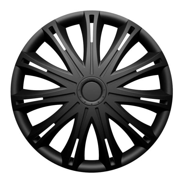 Wieldoppen Spark zwart 17 inch set van 4 stuks