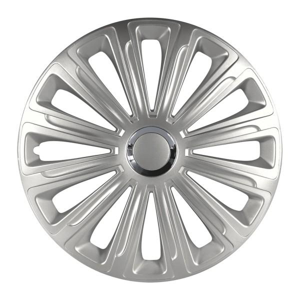 Wieldoppen Trend RC zilver 15 inch 4-delig set