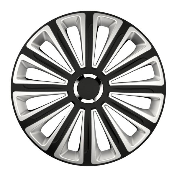 Wieldoppen Trend RC zwart/zilver 16 inch 4-delig set