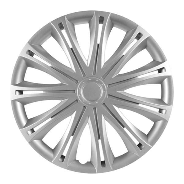 Wieldoppen Spark  zilver 17 inch 4-delig set