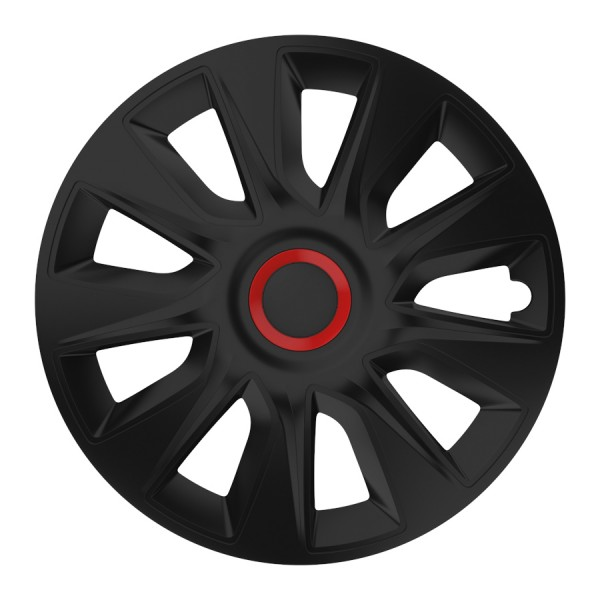 Wieldoppen Stratos RR zwart 17 inch 4-delig set