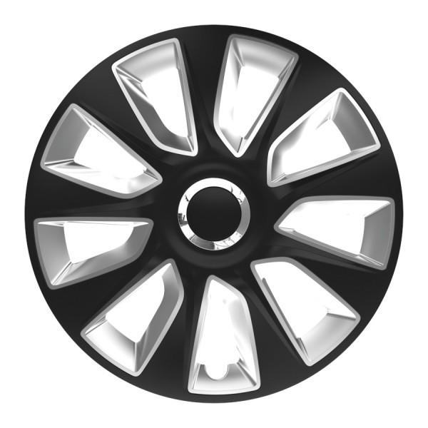Wieldoppen Stratos RC zwart/zilver 13 inch 4-delig set