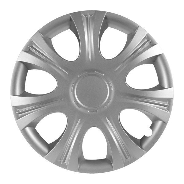 Wieldoppen Impulse zilver 14 inch 4-delig set