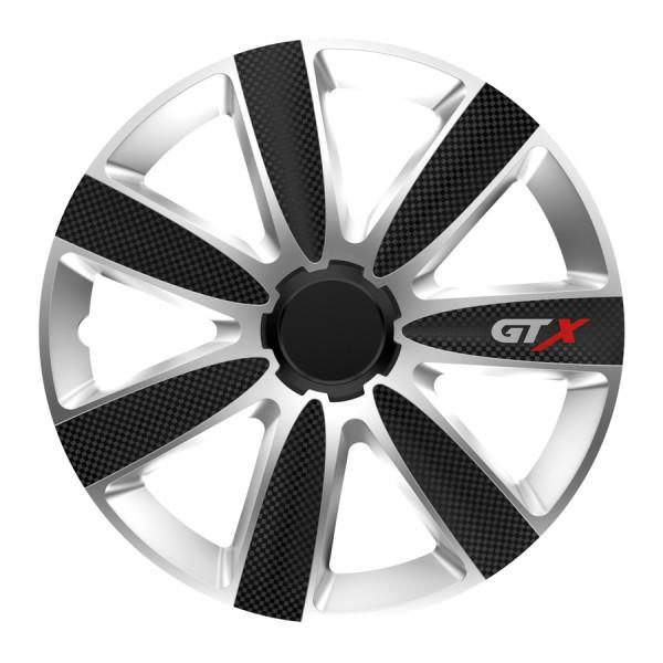 Wieldoppen GTX Carbon zwart/zilver 16 inch 4-delig set