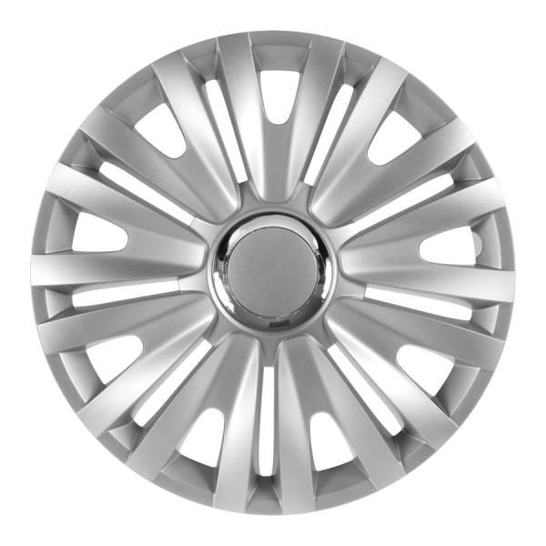 Wieldoppen Royal RC zilver 15 inch 4-delig set