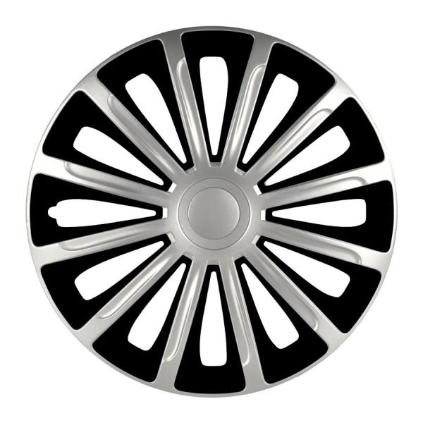 Wieldoppen Trend DC zilver/zwart 14 inch 4-delig set