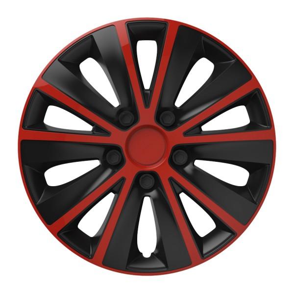 Wieldoppen Rapide rood-zwart 16 inch 4-delig set