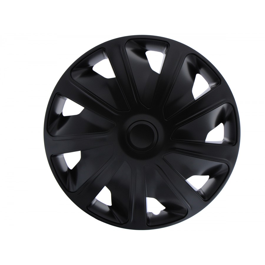 Wieldoppen Craft zwart 15 inch (bolle velgen) bedrijfswagen 4-delig set