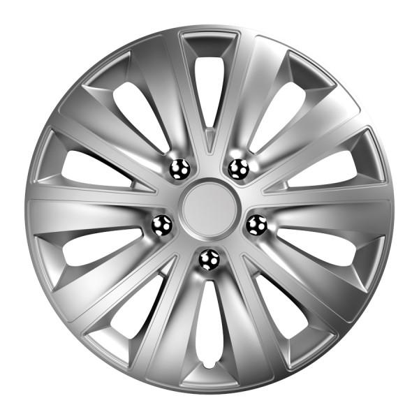 Wieldoppen Rapide NC zilver 15 inch 4-delig set