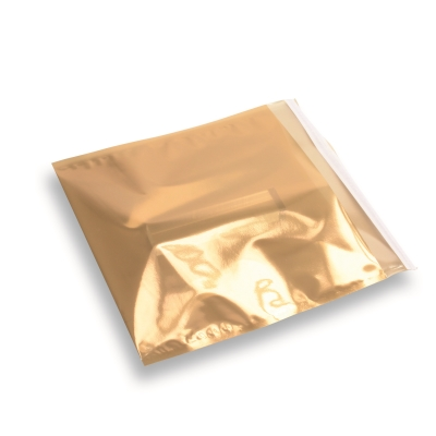 Folie envelop Goud transparant 220x220mm