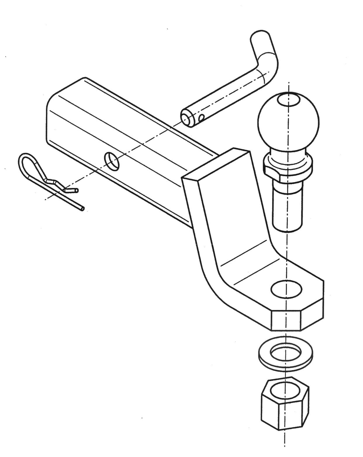 trekhaak uit Amerika koppelstuk connector