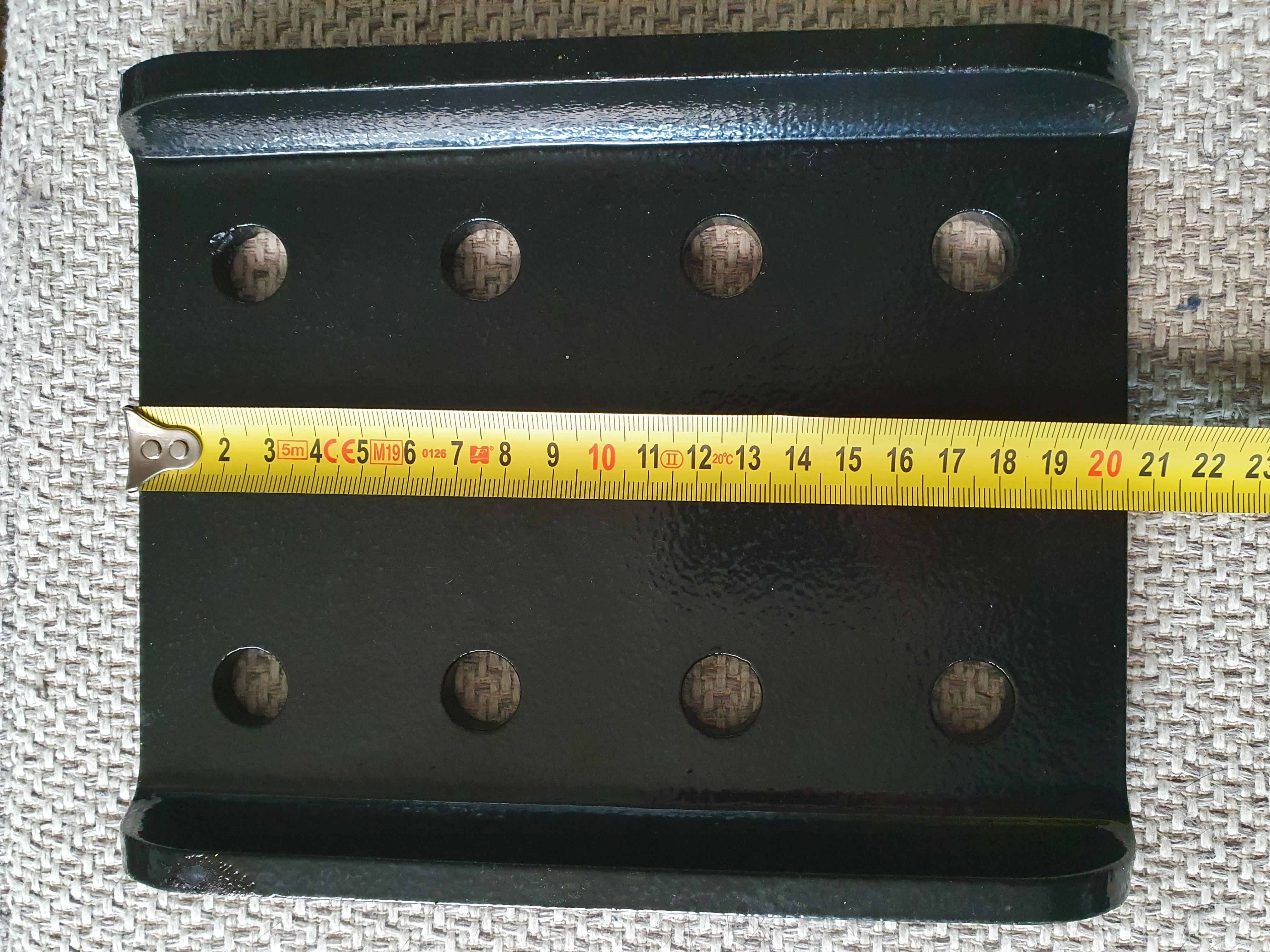 Trekhaak Adapter achter plaat geschikt voor 2-Gats Flenskogel