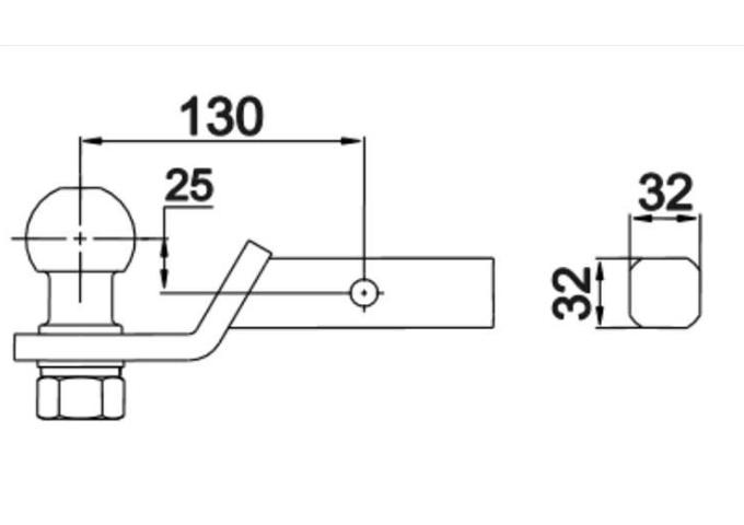 Trekhaak Usa Adapter 32 x 32 mm Koker Hitch