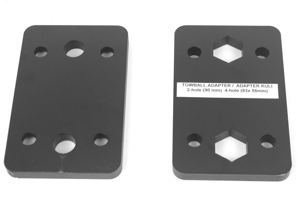 Adapterplaat van 2 gats naar 4 gats Monoflex - kopie