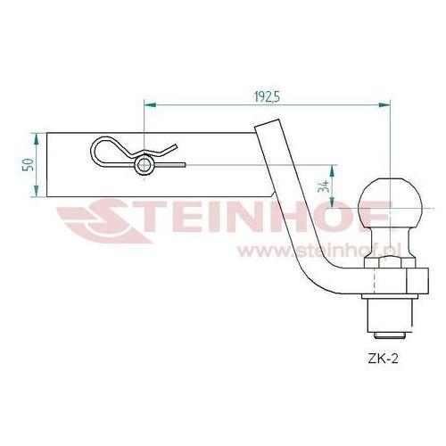 Trekhaak USA adapter Cars koppelstuk adapter 5611ZK-2 | Met RDW keuring
