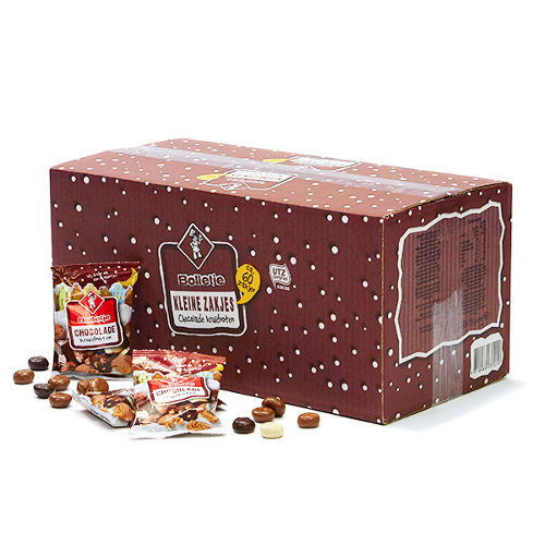 Bolletje chocolade kruidnoten uitdeelzakjes