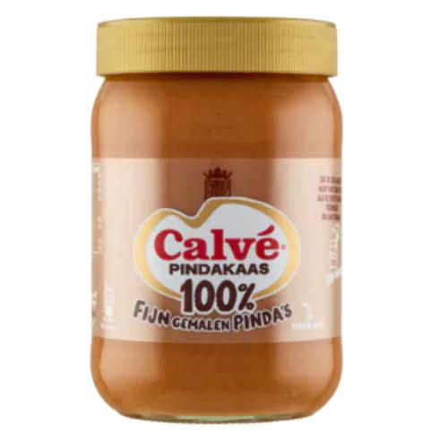 Calvé 100% Pindakaas Fijn Gemalen (600 gr.)