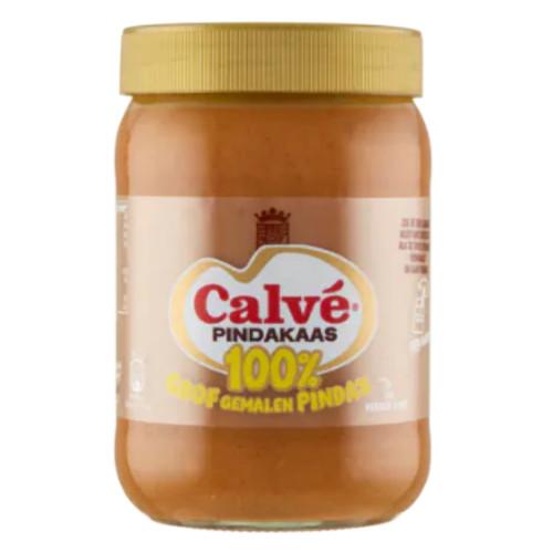 Calvé 100% Pindakaas Grof Gemalen (600 gr.)