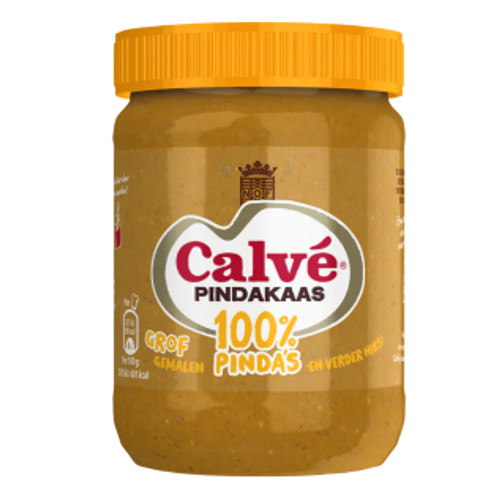 Calvé 100% Pindakaas Grof Gemalen