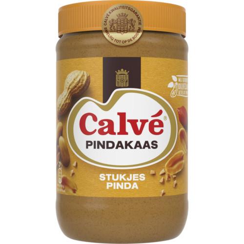 Calvé Pindakaas met stukjes noot (1 kg.)