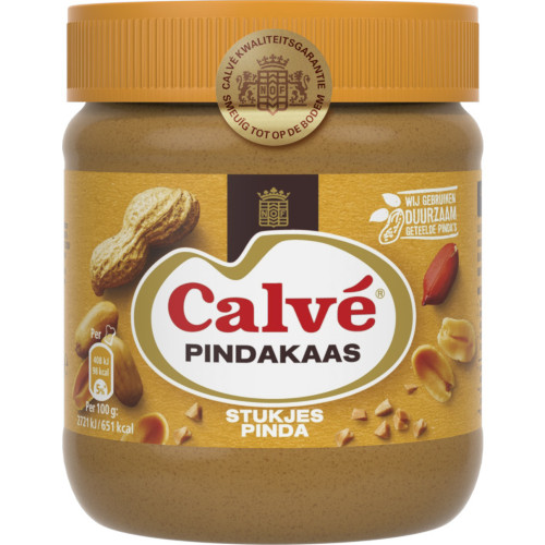 Calvé Pindakaas met stukjes noot (350 gr.)