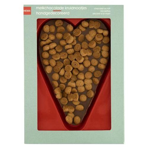 melkchocolade hart kruidnootjes