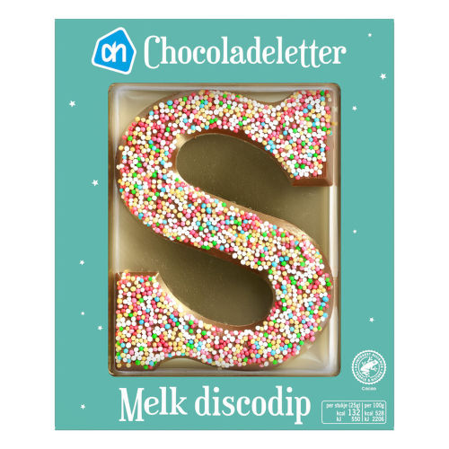 Sinterklaas melk chocoladeletter discodip