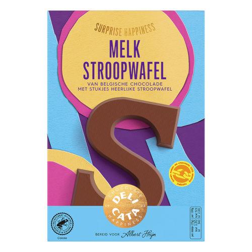 Delicata witte chocoladeletter stroopwafel