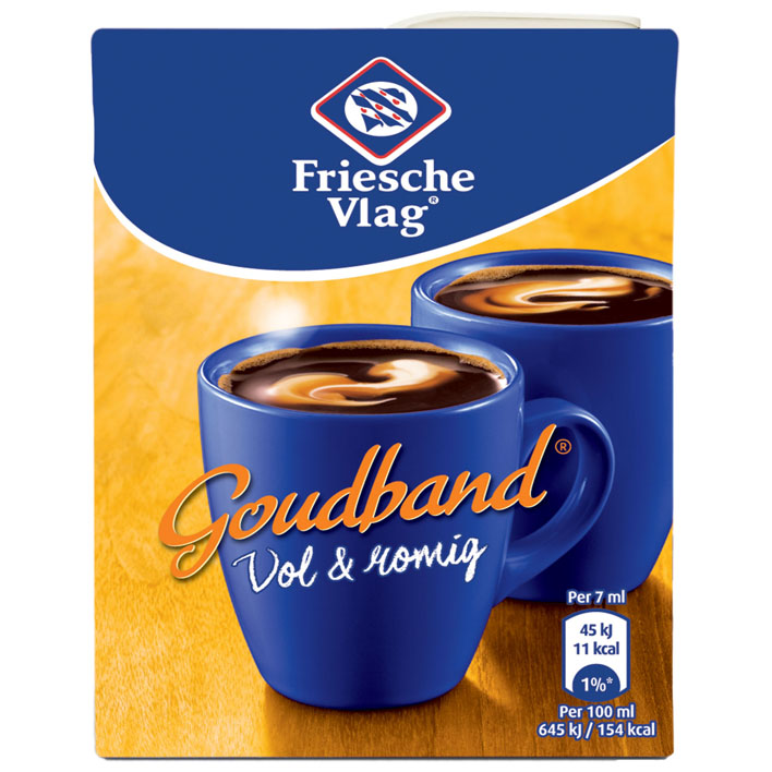 Friesche Vlag Goudband Koffiemelk (186 ml.)