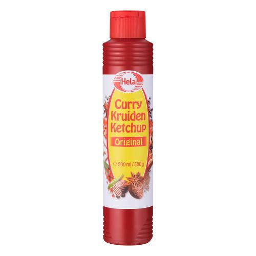 Hela curry kruiden ketchup 500 ml.