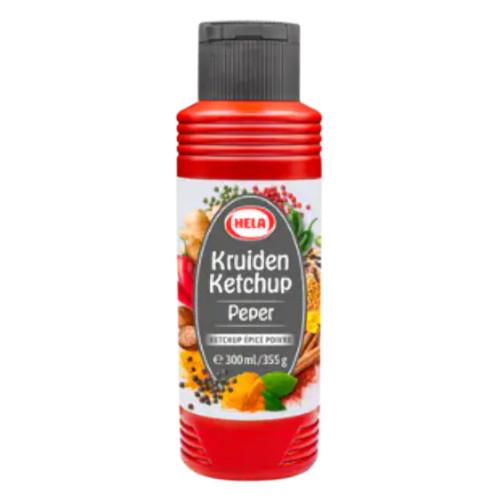 Hela Kruiden Ketchup Peper (300 ml.)