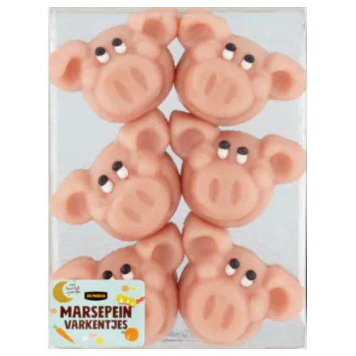 amandel marsepeinen varkens gezichtjes