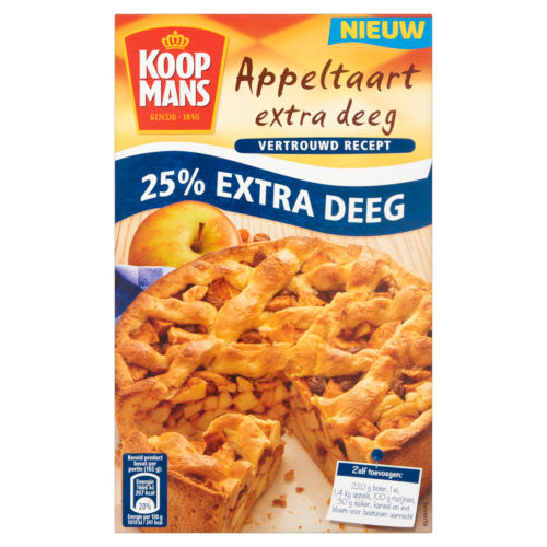 Koopmans mix voor appeltaart extra deeg