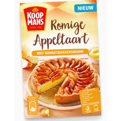 Koopmans mix voor romige appeltaart