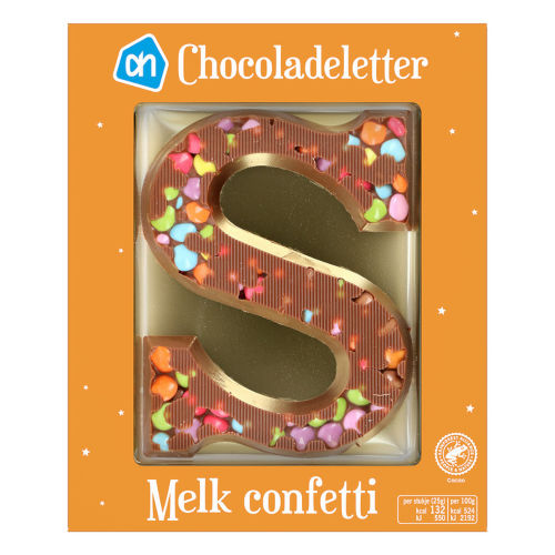 Sinterklaas melk chocoladeletter confetti